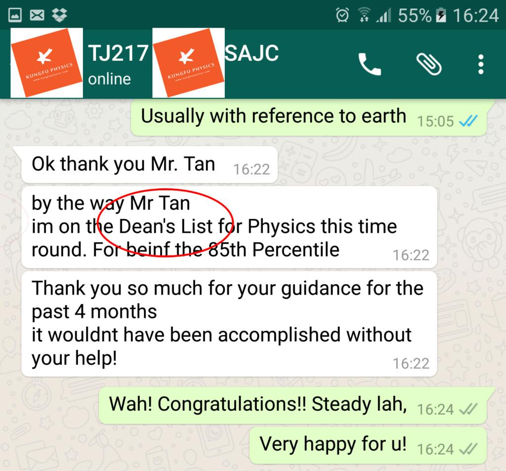 TJ217 Jareth Deans List 2 in physics