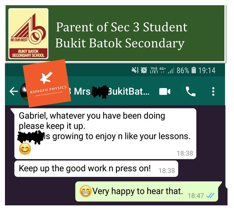 Bukit Batok Sec Student Enjoys Kungfu Physics Tuition