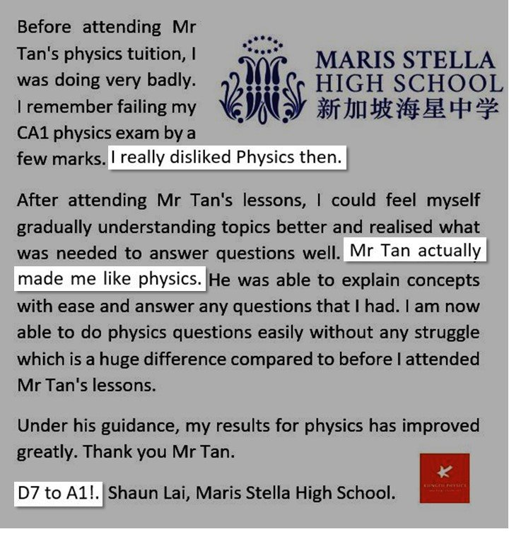 MarisStella Student from Dislike to Like Physics