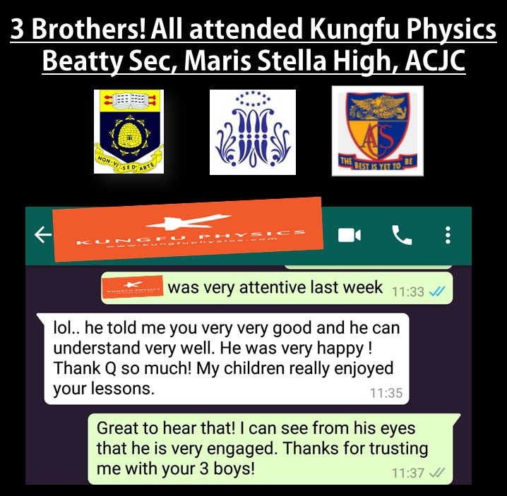 Three Brothers! all taught by Kungfu Physics